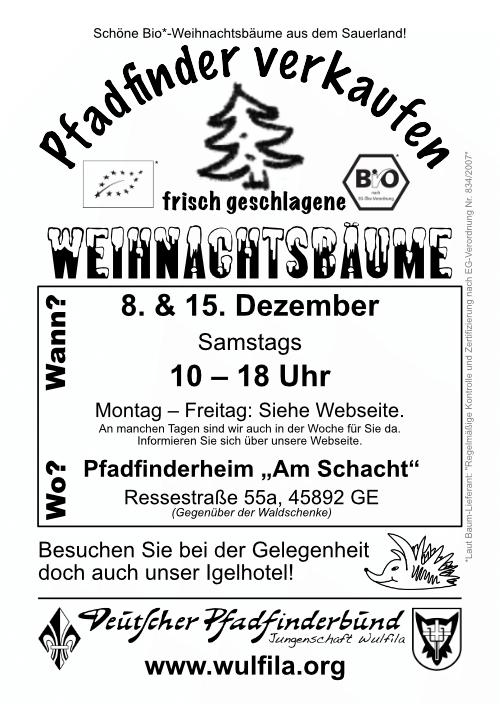 Weihnachtsbaumflyer 2018