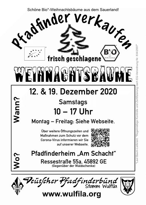 Weihnachtsbaumflyer 2020