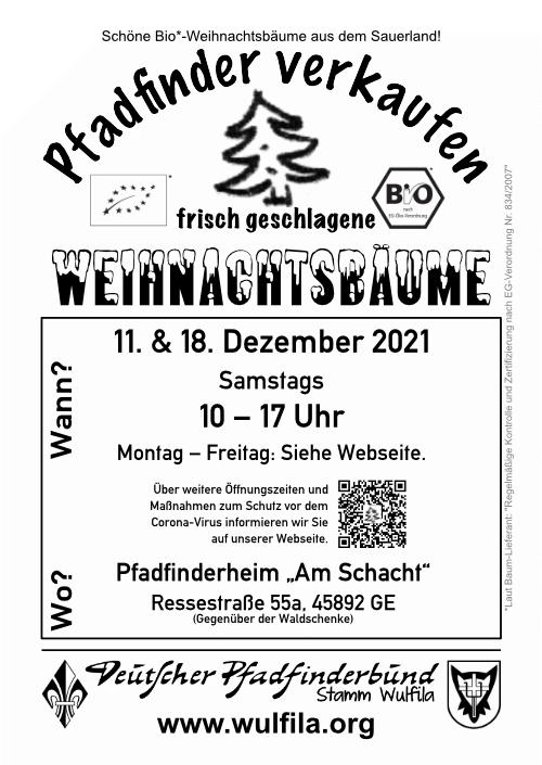 Weihnachtsbaumflyer 2021
